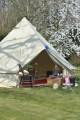 Out side Bell tent